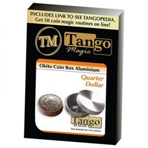 Okito Coin Box Aluminum Quarter(A0003) by Tango-Trick