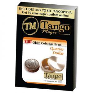 Slot Okito Coin Box Brass Quarter by Tango -Trick (B0018)