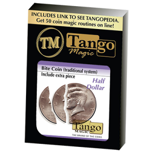 Bite Coin - (D0046)(US Half Dollar - Traditional With Extra Piece) by Tango