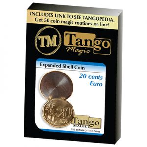 Expanded Shell Coin (20 Cent Euro) by Tango Magic (E0006)