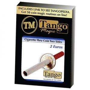 Cigarette Through 2 Euros (E0013) (Two Sided)