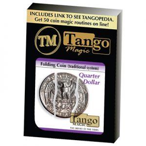 Folding Coin Quarter (D0021) (Traditional) by Tango Magic (D0021)