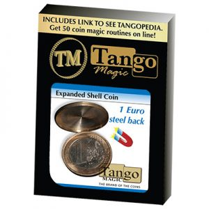 Expanded Shell Coin - (1 Euro, Steel Back) by Tango Magic (E0066)