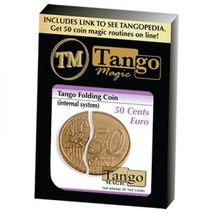 Folding Coin (E0038) (50 Cent Euro, Internal System) by Tango