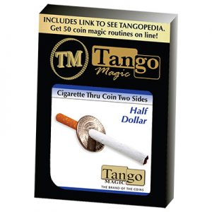 Cigarette Through Half Dollar (Two Sided) (D0015)by Tango