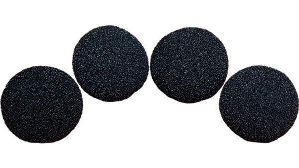 3 inch Regular Sponge Ball (Black) Pack of 4 from Magic by Gosh
