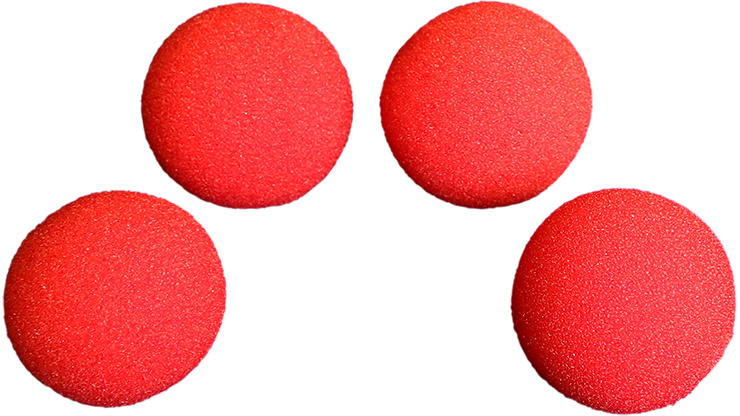 3 inch Regular Sponge Ball (Red) Pack of 4 from Magic by Gosh