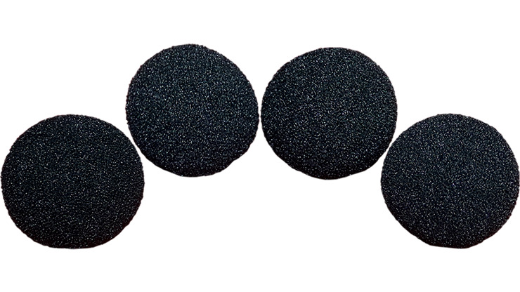 1.5 inch Super Soft Sponge Balls (Black) Pack of 4 from Magic by Gosh