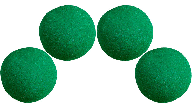 3 inch Super Soft Sponge Ball (Green) Pack of 4 from Magic by Gosh
