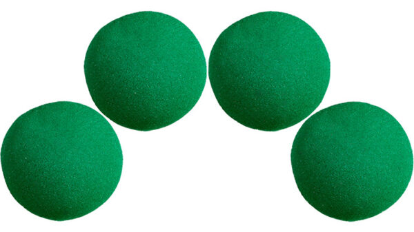 1 inch Super Soft Sponge Ball (Green) Pack of 4 from Magic by Gosh