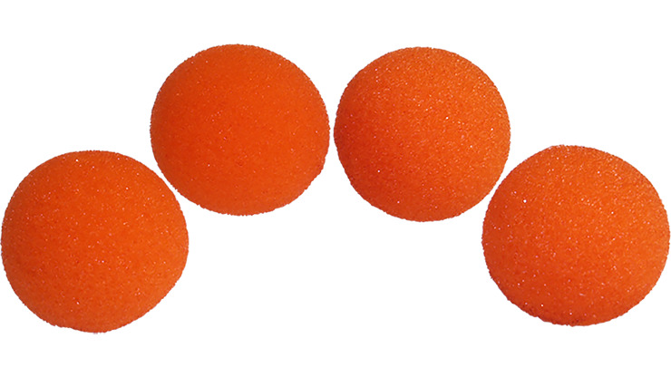 2 inch Super Soft Sponge Ball (Orange) Pack of 4 from Magic by Gosh