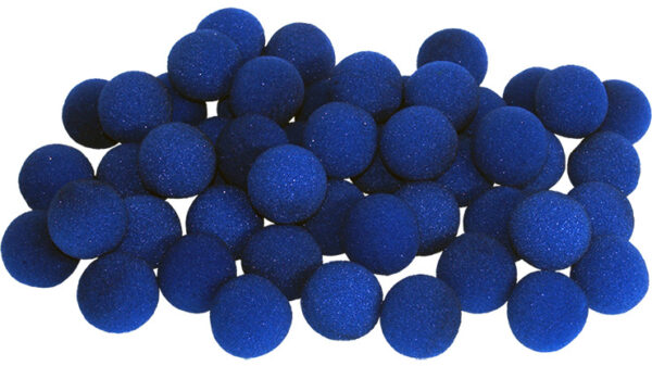 1.5 inch Super Soft Sponge Ball (Blue) Bag of 50 from Magic by Gosh