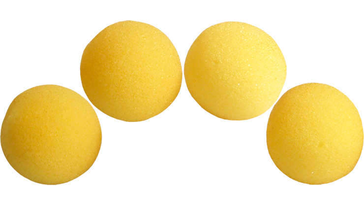 1.5 inch Super Soft Sponge Balls (Yellow) Pack of 4 from Magic by Gosh