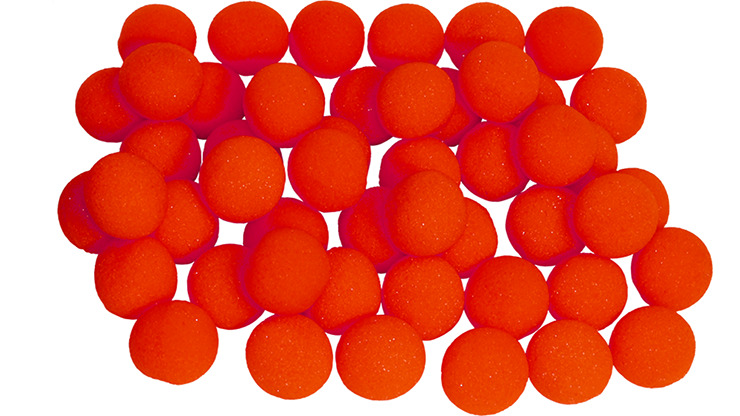 1 inch Regular Sponge Ball (Red) Bag of 50 from Magic by Gosh