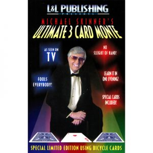 3 Card Monte Card (blue) Trick Skinner