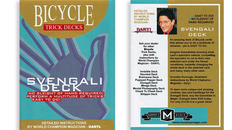 Svengali Deck Mandolin Bicycle (Red)