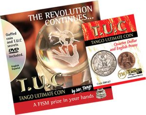 Tango Ultimate Coin (T.U.C) Quarter/Penny (D0127) with instructional DVD by Tango
