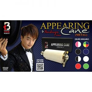 Appearing Cane (Metal / Black) by Handsome Criss Taiwan Ben Magic