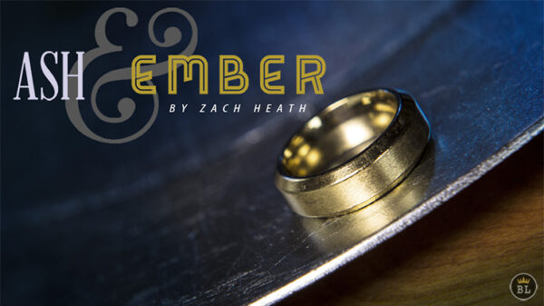 Ash and Ember Gold Beveled Size 10 (2 Rings) by Zach Heath
