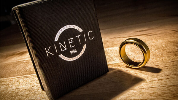 Kinetic PK Ring (Gold) Beveled size 8 by Jim Trainer