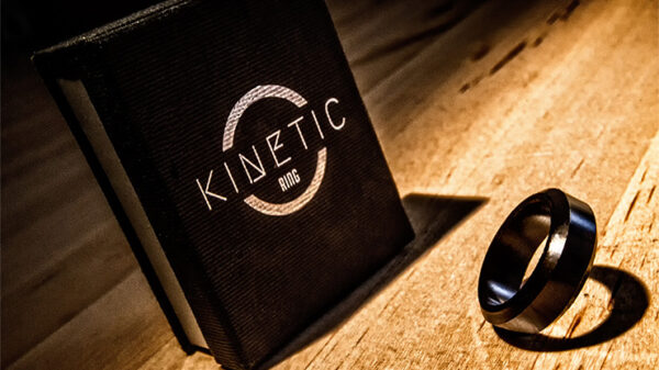 Kinetic PK Ring (Black) Beveled size 10 by Jim Trainer