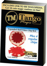Expanded Shell Poker Chip Red plus 4 Regular Chips (PK001R) by Tango magic