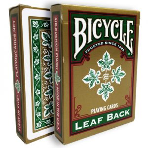 Bicycle Leaf Back Deck (Green) by Gambler's Warehouse