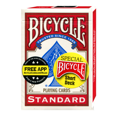 Bicycle Short Deck (Red) by US Playing Card Co.
