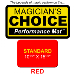 Standard Close-Up Mat (RED - 10.5x15.5) by Ronjo