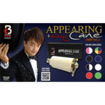 Appearing Cane (Metal / Red & White) by Handsome Criss and Taiwan Ben Magic