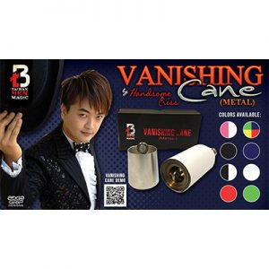 Vanishing Cane (Metal / Red & White Stripes) by Handsome Criss and Taiwan Ben Magic s
