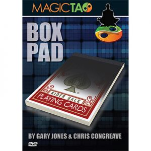 Box Pad (RED) DVD and Gimmick by Gary Jones and Chris Congreave s