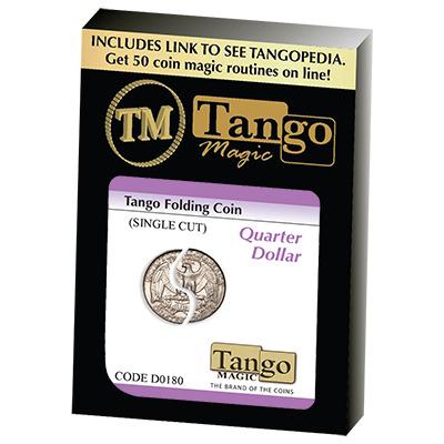 Tango Folding Coin Quarter Dollar Traditional Single Cut (D0180) by Tango