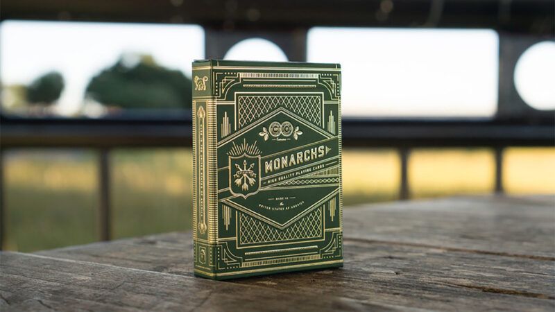 Monarch Playing Cards (Green) by theory11