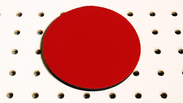 Round Mini Mat (Red) by Ronjo Magic