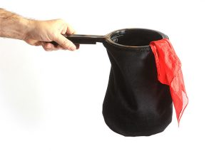 Change Bag Velvet REPEAT WITH ZIPPER (All Black) by Bazar de Magia s