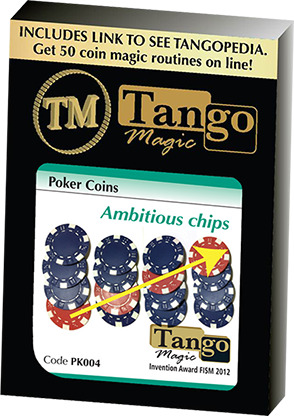 Ambitious Chip (PK004) (Gimmick and Online Instructions) by Tango Magic
