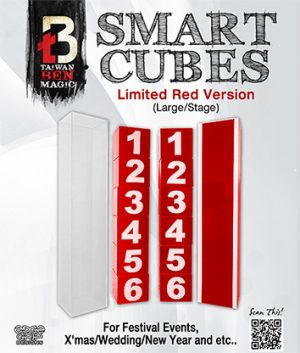 Smart Cubes RED (Large/Stage) by Taiwan Ben