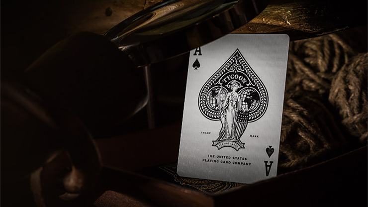 Tycoon Playing Cards (Black) by theory11