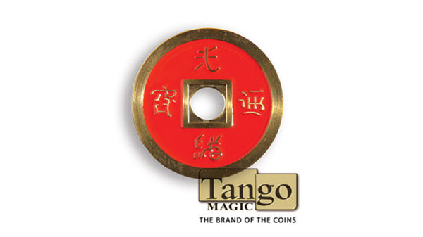 Dollar Size Chinese Coin (Red) by Tango (CH032)