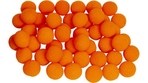 1 inch Super Soft Sponge Ball (Orange) Bag of 50 from Magic By Gosh