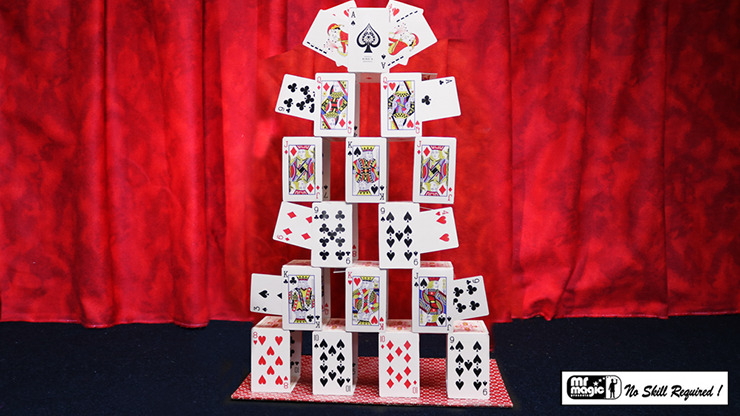 Card Castle with Six Card Repeat by Mr. Magic