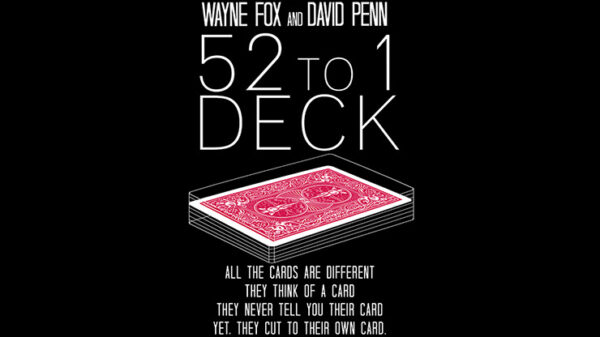 The 52 to 1 Deck Red by Wayne Fox and David Penn