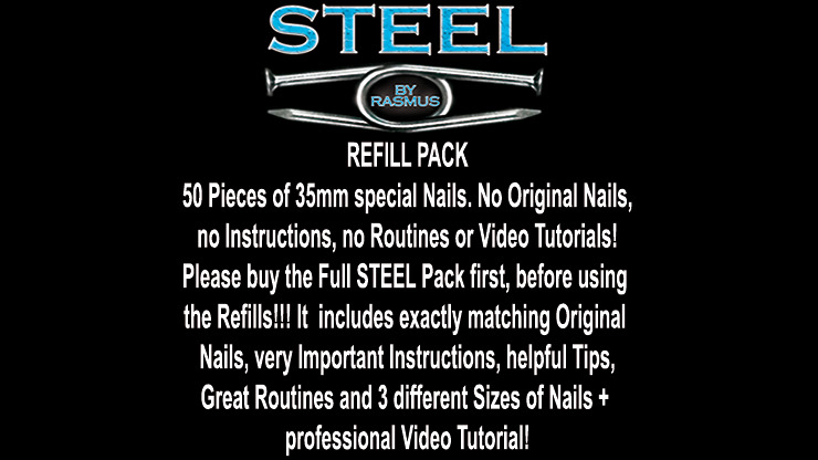 STEEL Refill Nails 50 ct. (35mm) by Rasmus