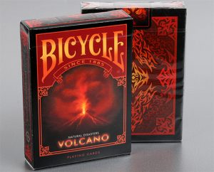 """Bicycle Natural Disasters """"Volcano"""" Playing Cards by Collectable Playing Cards"""