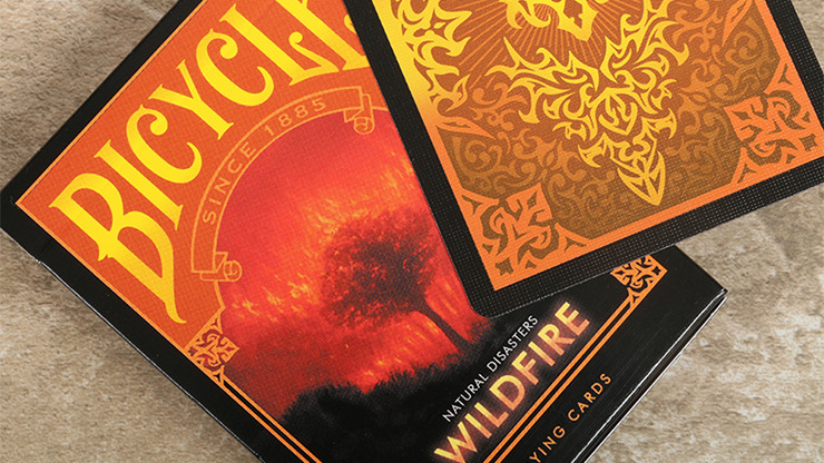 """Bicycle Natural Disasters """"Wildfire"""" Playing Cards by Collectable Playing Cards"""
