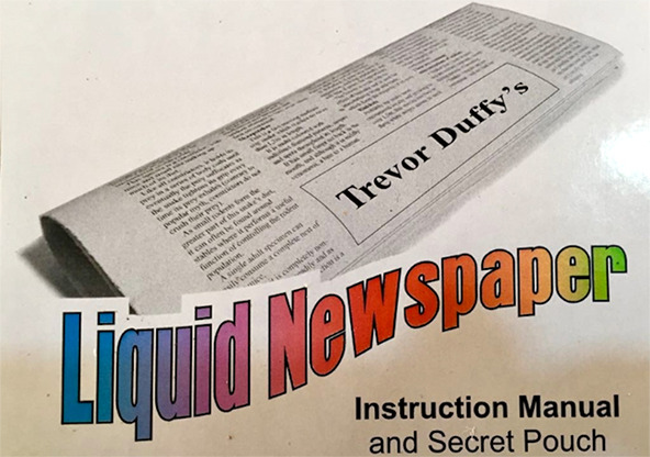 Liquid Newspaper by Trevor Duffy