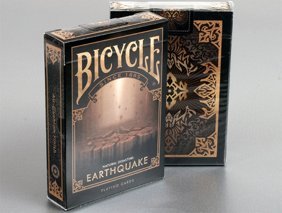 """Bicycle Natural Disasters """"Earthquake"""" Playing Cards by Collectable Playing Cards"""