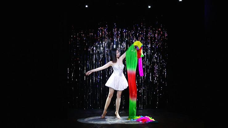 Rainbow Silk Fountain Streamer by Yan Yan Ma and Magiclism