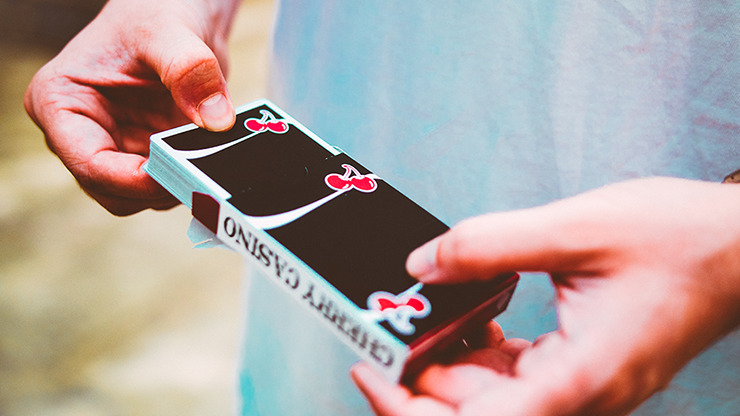 Cherry Casino True Black (Black Hawk) Playing Cards by Pure Imagination Projects